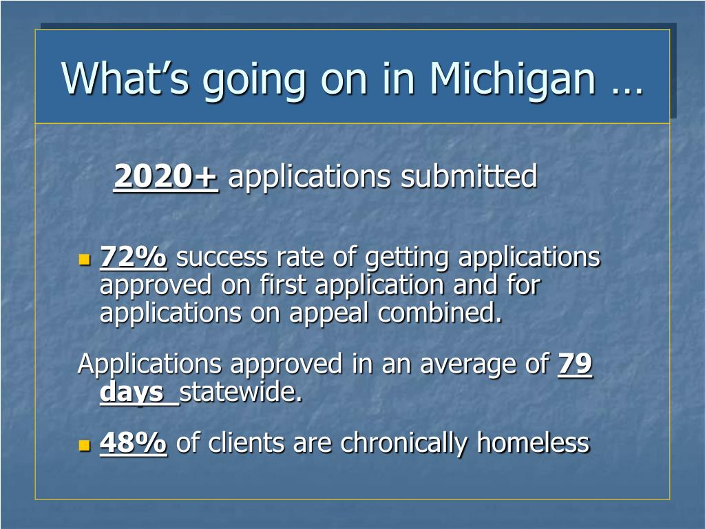 What's going on in Michigan …
