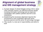 alignment of global business and gis management strategy