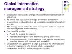 global information management strategy