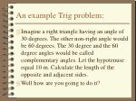 an example trig problem