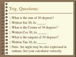 trig questions
