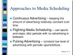 approaches to media scheduling