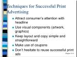 techniques for successful print advertising