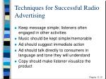 techniques for successful radio advertising
