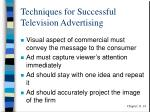 techniques for successful television advertising