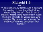 malachi 1 6 nkjv
