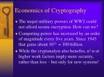 economics of cryptography