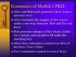 economics of merkle s pkd