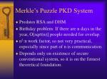 merkle s puzzle pkd system