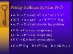 pohlig hellman system 1975
