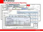 bi publisher high quality enterprise reporting