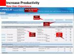 increase productivity new user experience