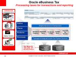 oracle ebusiness tax processing taxes for transactions and reporting