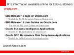 r12 information available online for ebs customers
