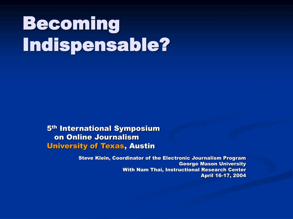 becoming indispensable l.