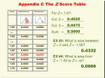 appendix c the z score table
