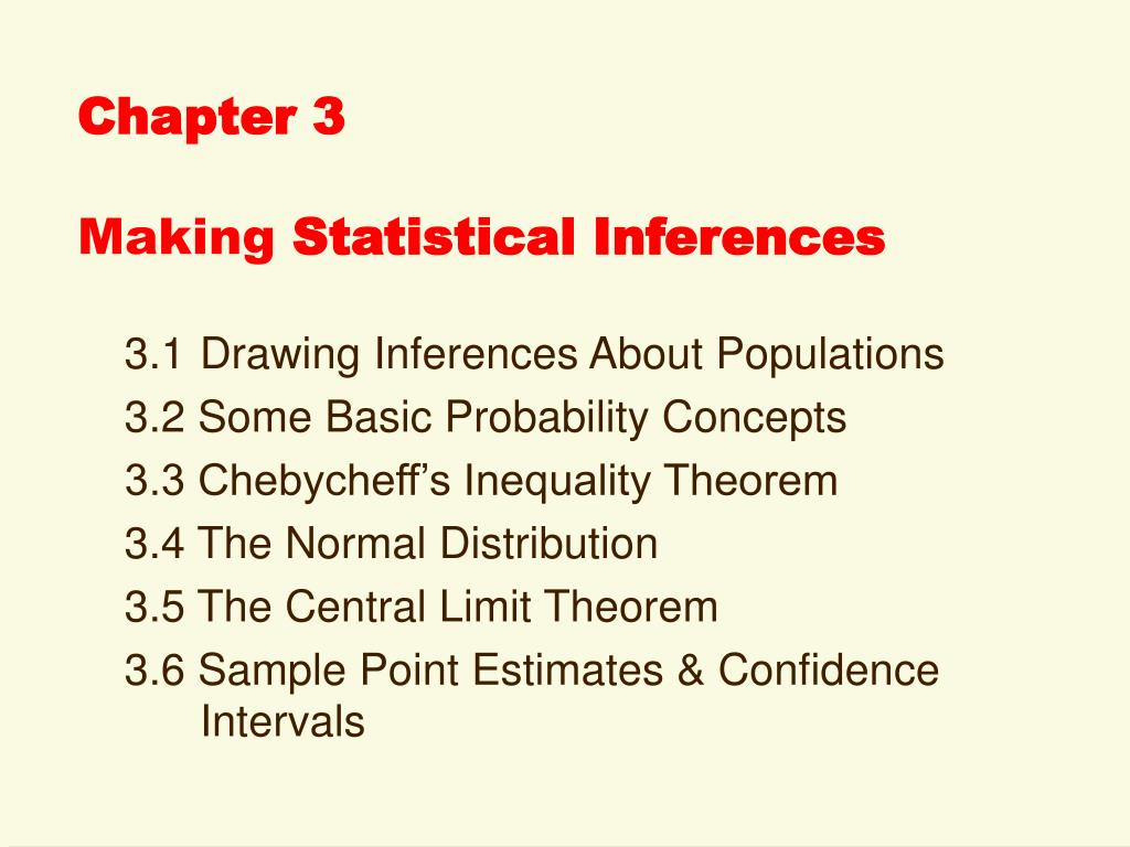 chapter 3 making statistical inferences l.