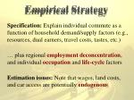 empirical strategy