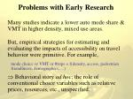 problems with early research