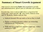 summary of smart growth argument