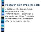 research both employer job