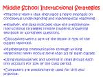 middle school instructional strategies
