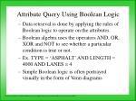 attribute query using boolean logic