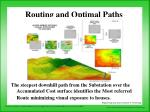 routing and optimal paths