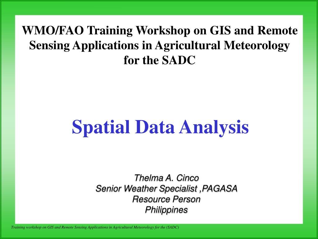 spatial data analysis l.