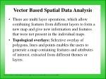 vector based spatial data analysis