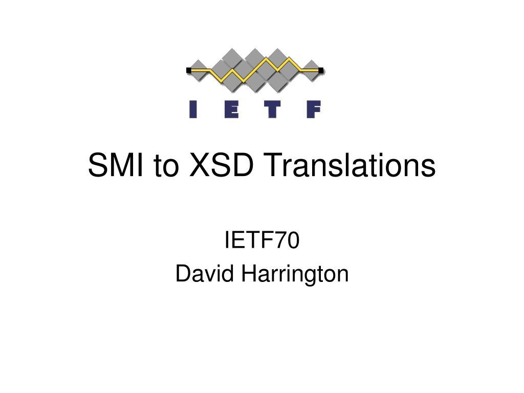 smi to xsd translations l.