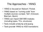 the approaches yang