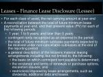 leases finance lease disclosure lessee