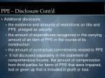 ppe disclosure cont d21