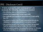 ppe disclosure cont d22
