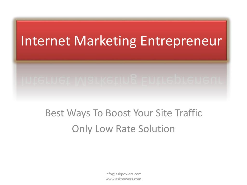 internet marketing entrepreneur l.