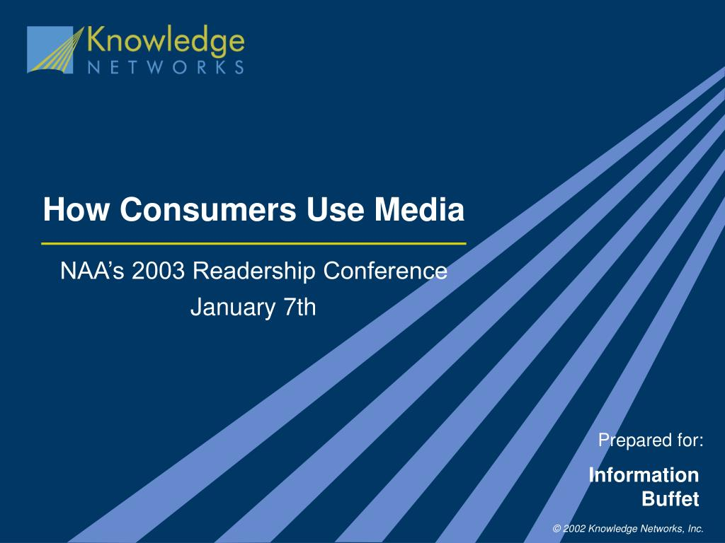 how consumers use media l.