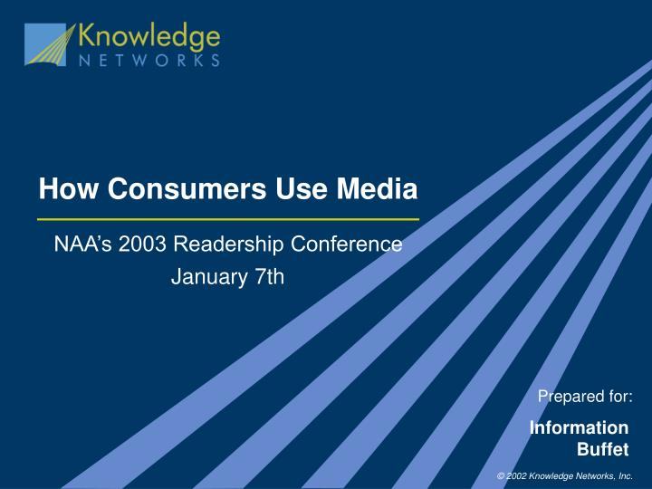 how consumers use media n.