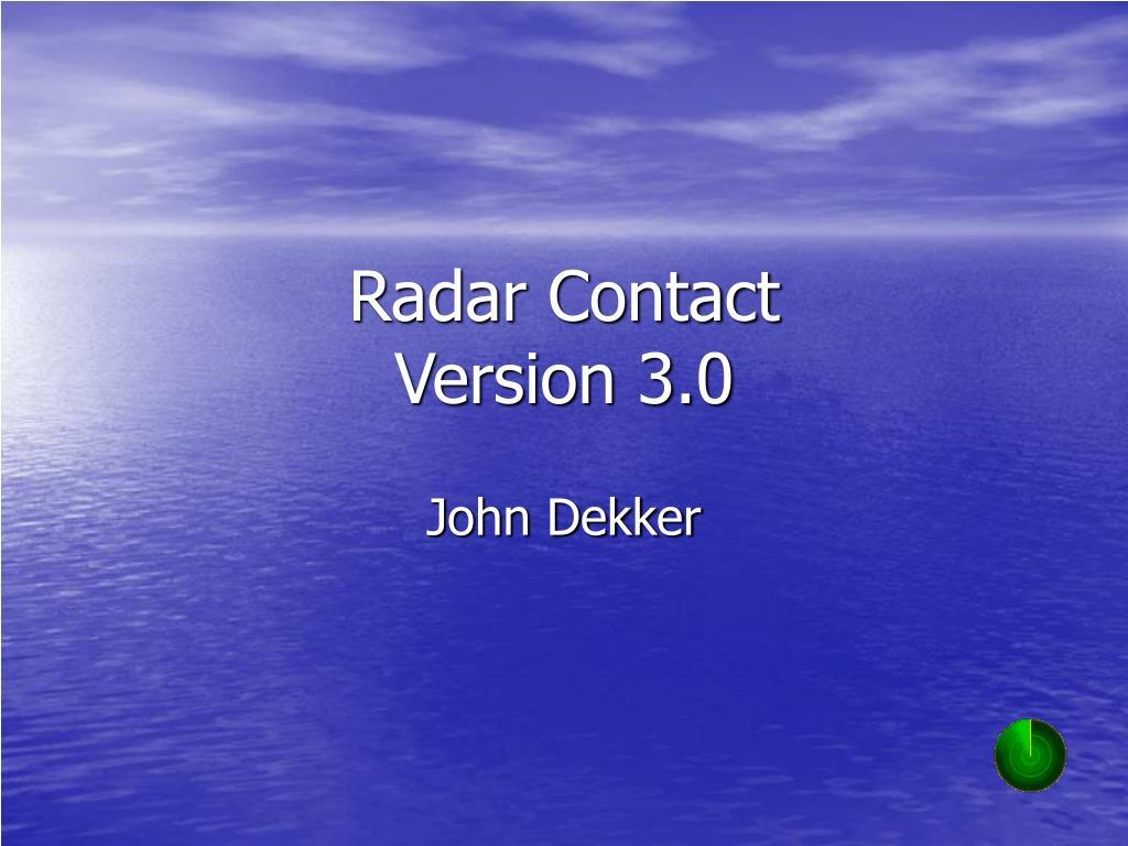 radar contact version 3 0 l.