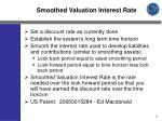 smoothed valuation interest rate
