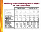 measuring financial leverage and its impact on firm s stock beta26