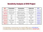 sensitivity analysis of dvd project
