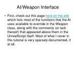 ai weapon interface