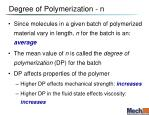 degree of polymerization n