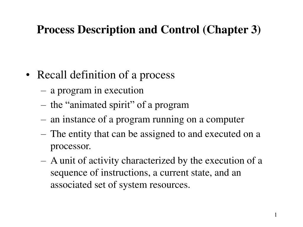 process description and control chapter 3 l.