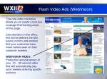 flash video ads webvision