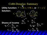 cobb douglas summary