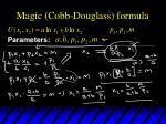 magic cobb douglass formula