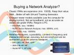 buying a network analyzer