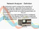 network analyzer definition